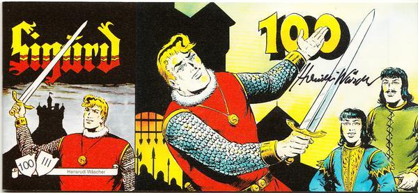 Sigurd Piccolo Nr. 100 - 3. Serie - Sprechblase mit Autogramm