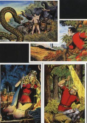 Postkarten Set - 20 verschiedene Wäscher Motive Dieses wunderschöne Postkarten Set ist 1992 im Norbert Hethke Verlag erschienen. Es umfasst 20 verschiedene Postkarten mit Motiven von folgenden Helden: 7x Sigurd, 3x Nick, 3x Falk, 3x Tibor, 4x diverse Helden.