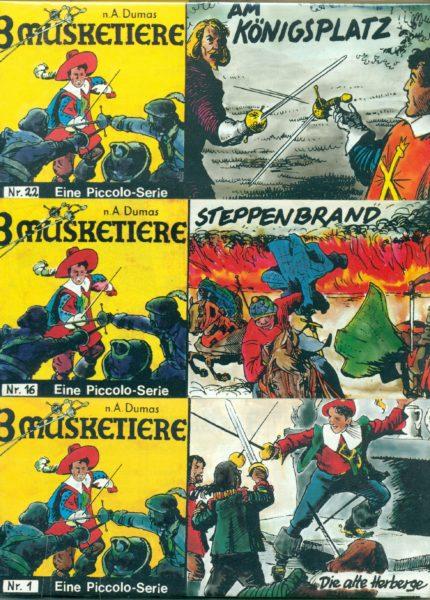 Die 3 Musketiere Piccolos Nr. 1 – 22 komplett, von Dargatz, ungelesen 0/0-
